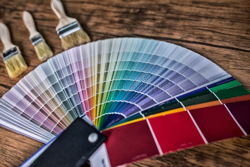 Color palette, guide of paint. High Dynamic Range tone royalty free stock photos