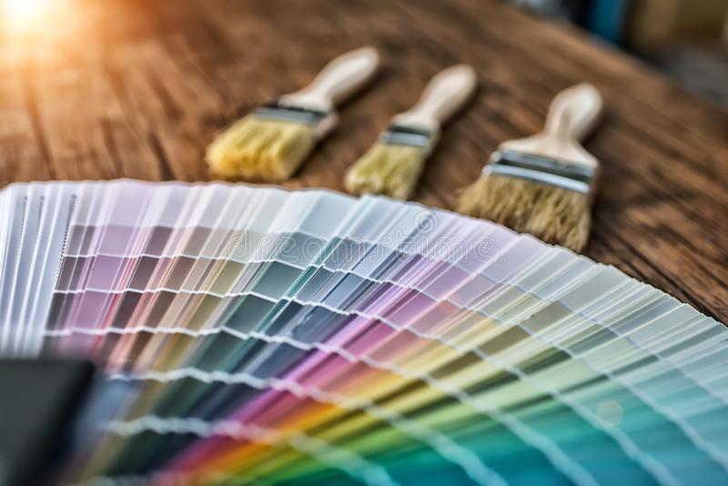 Color palette, guide of paint. High Dynamic Range tone stock photos