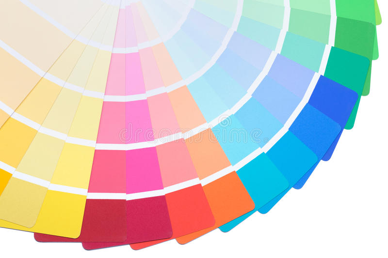 Color palette guide. Spread to present a range of colours stock image