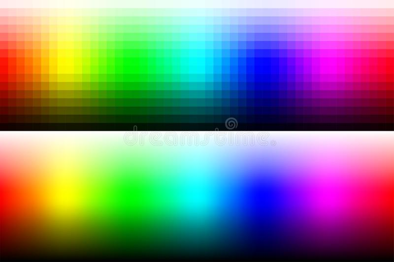 Color palette RGB with gradation and smoothed colors. stock illustration