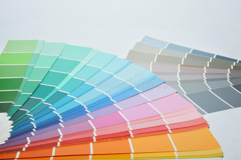 Color palette. For shops and homes royalty free stock photo
