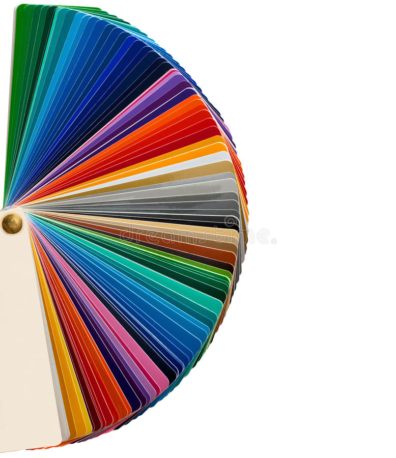 Color palettes. Over white royalty free stock images