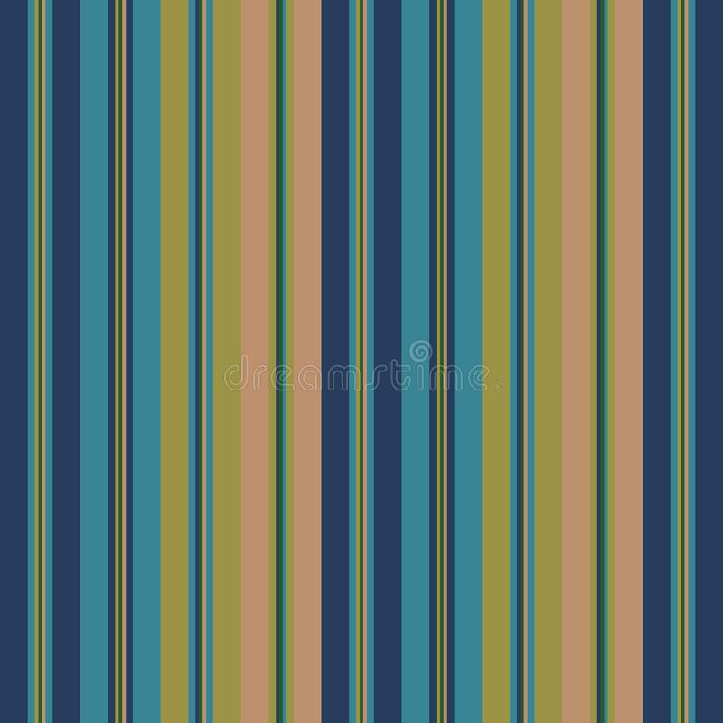 Color pantone fall fashion style seamless stripes pattern. Abstract vector background royalty free illustration