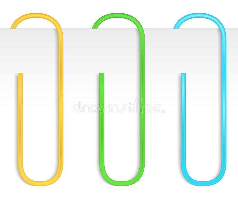 Color Paper Clips royalty free illustration