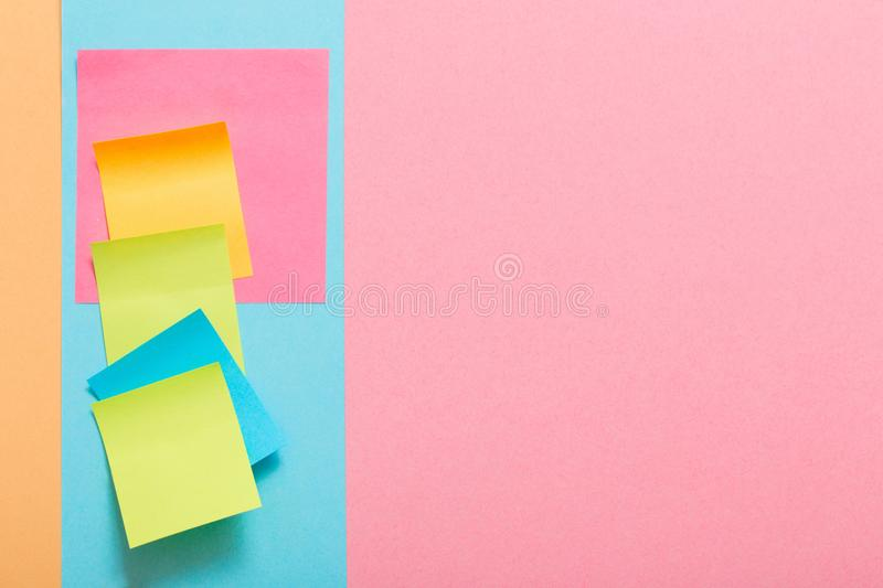 The color paper stickers stock photo
