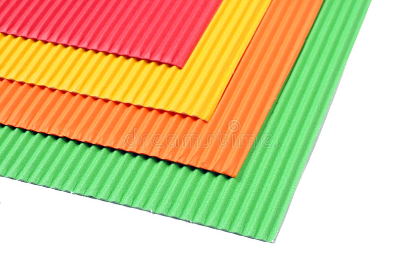Color papers. On white background royalty free stock photo