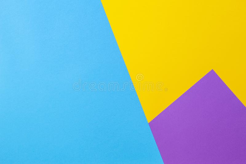 Color Papers Geometry Flat Composition Background With Yellow Violet ...
