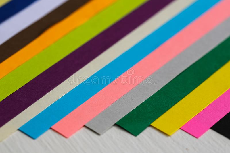 Color papers. Many color papers together in group royalty free stock photos