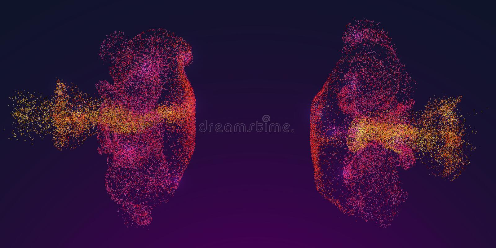 Color Particles Fluid Flow Design vector illustration