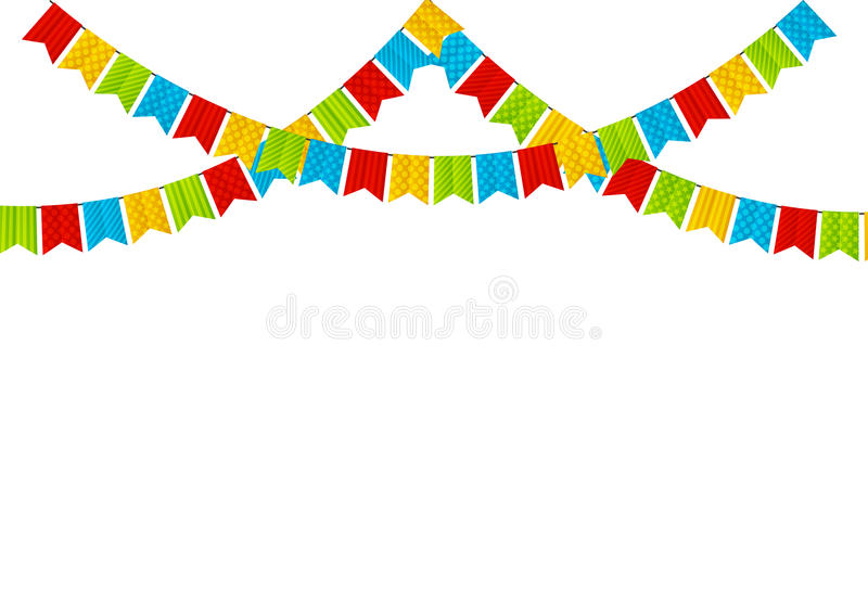 Color party flags royalty free illustration