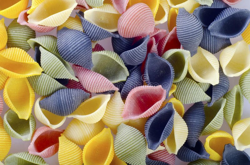 Color pasta royalty free stock image