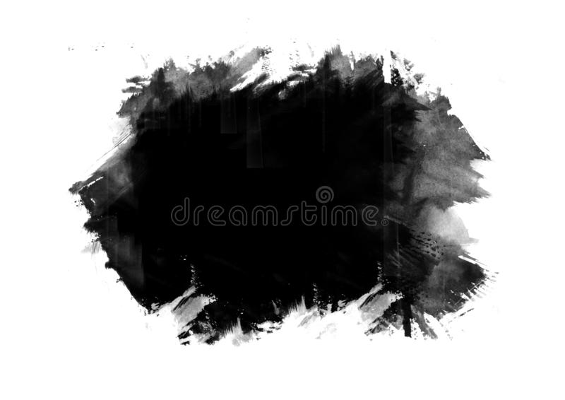 Color patches graphic brush strokes design effect element for ba. Black graphic color patches brush strokes effect background designs element stock photo