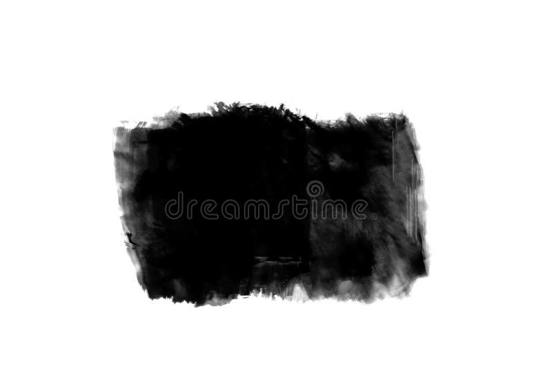 Color patches graphic brush strokes design effect element for background. Black graphic color patches brush strokes effect background designs element stock image