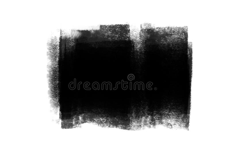 Color patches graphic brush strokes design effect element for background. Black graphic color patches brush strokes effect background designs element royalty free stock photo