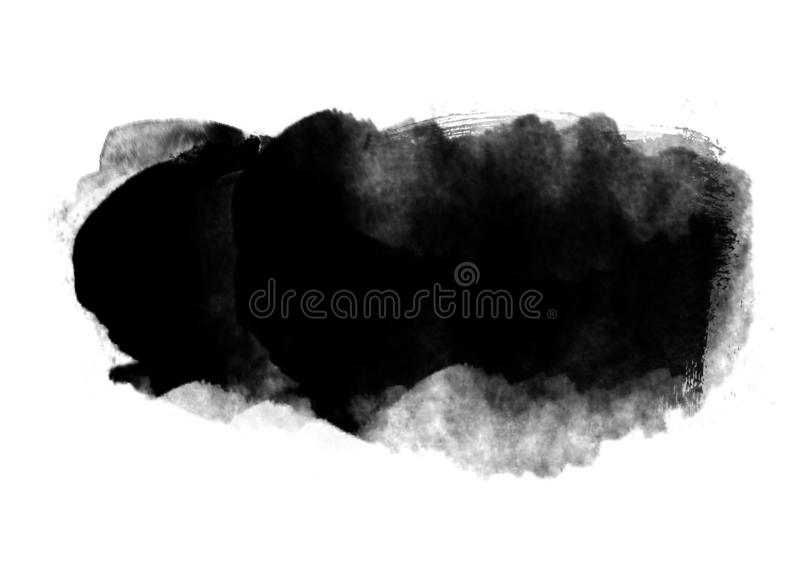 Color patches graphic brush strokes design effect element for background. Black graphic color patches brush strokes effect background designs element royalty free stock image