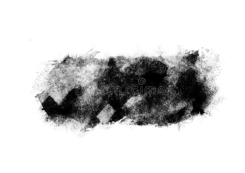 Color patches graphic brush strokes design effect element for background. Black graphic color patches brush strokes effect background designs element stock photo