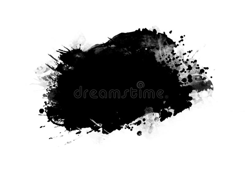 Color patches graphic brush strokes design effect element for background. Black graphic color patches brush strokes effect background designs element vector illustration