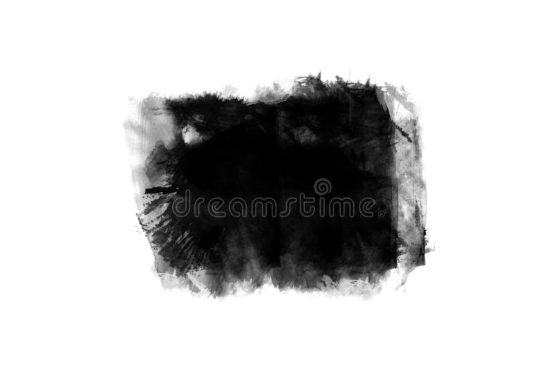 Color patches graphic brush strokes design effect element for background. Black graphic color patches brush strokes effect background designs element stock photography