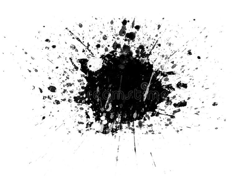 Color patches graphic brush strokes design effect element for background. Black graphic water color patches graphic brush strokes effect background designs royalty free stock images