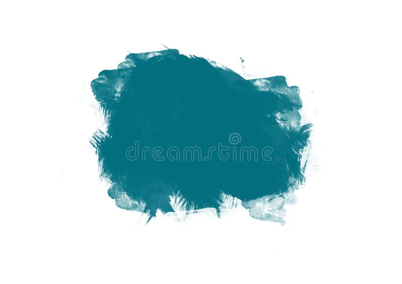 Color patches graphic brush strokes design effect element for background. Blue graphic color patches brush strokes effect background designs element royalty free stock images