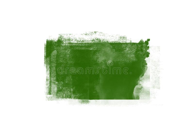 Color patches graphic brush strokes design effect element for background. Green graphic color patches brush strokes effect background designs element royalty free stock photos