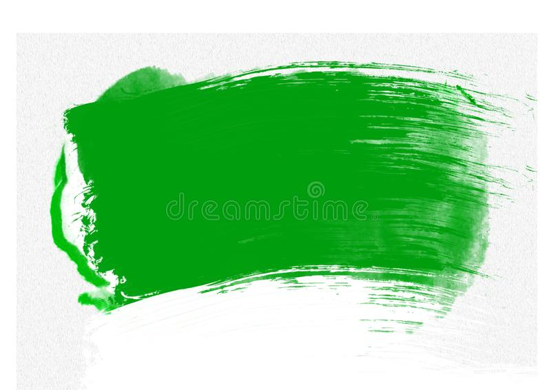 Color patches graphic brush strokes design effect element for background. Green graphic color patches brush strokes effect background designs element royalty free illustration
