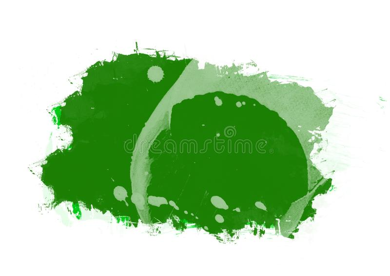 Color patches graphic brush strokes design effect element for background. Green graphic color patches brush strokes effect background designs element stock image