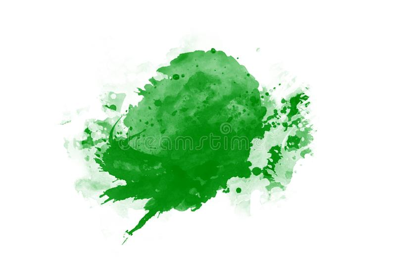 Color patches graphic brush strokes design effect element for background. Green graphic color patches brush strokes effect background designs element vector illustration