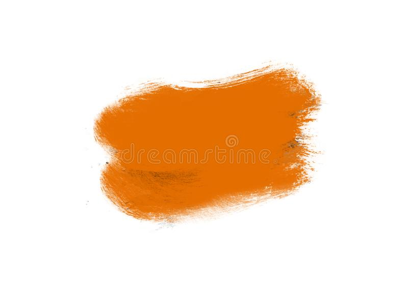 Color patches graphic brush strokes design effect element for background. Orange graphic color patches brush strokes effect background designs element stock images