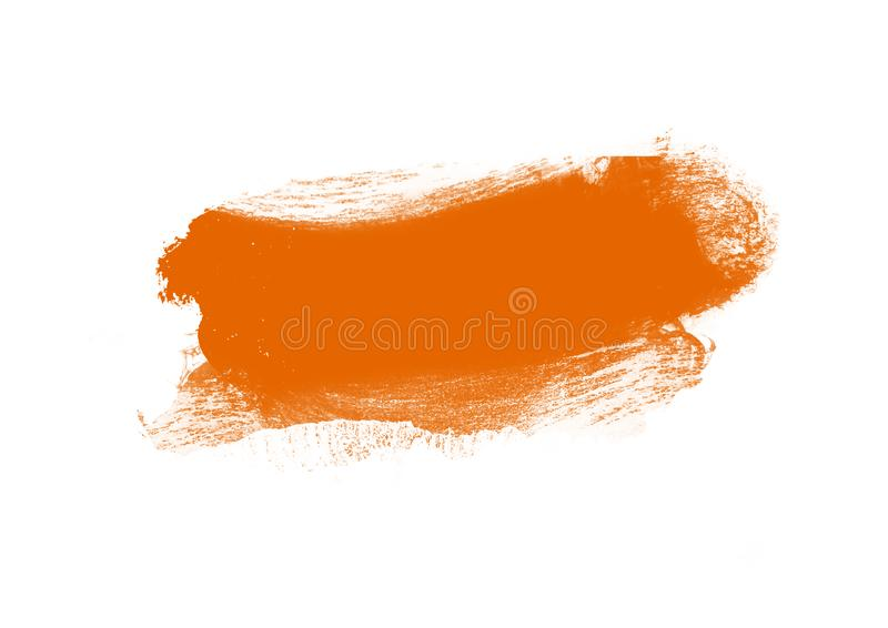 Color patches graphic brush strokes design effect element for background. Orange graphic color patches brush strokes effect background designs element stock photo