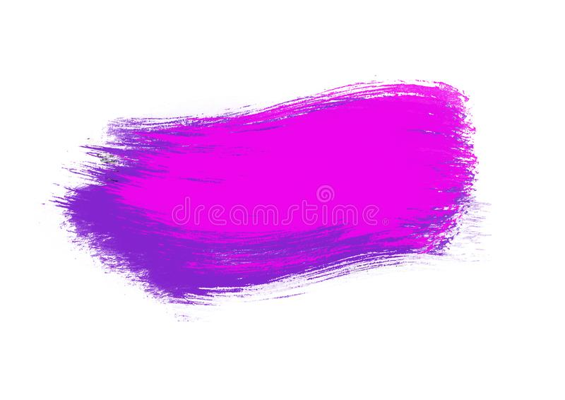 Color patches graphic brush strokes design effect element for background. Purple graphic color patches brush strokes effect background designs element royalty free stock photography