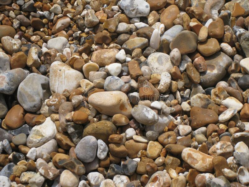 Color pebbles. The English Channel coast. royalty free stock images