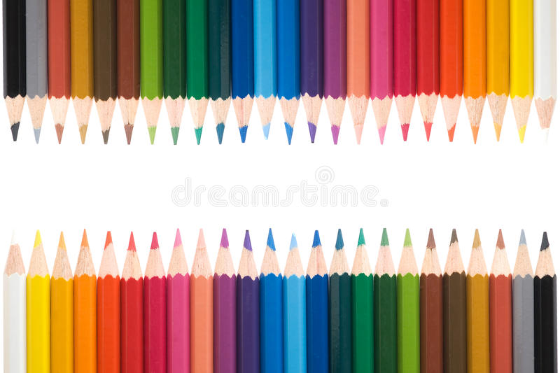 Color pecils 1. Different color pencils, background texture royalty free stock image