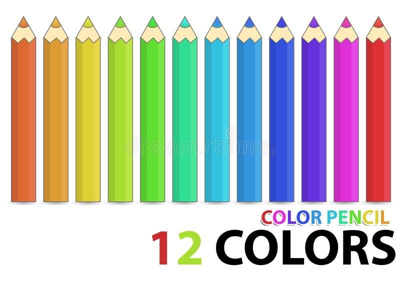 Download Color pencil stock vector. Image of artist, crafts, black - 17475201