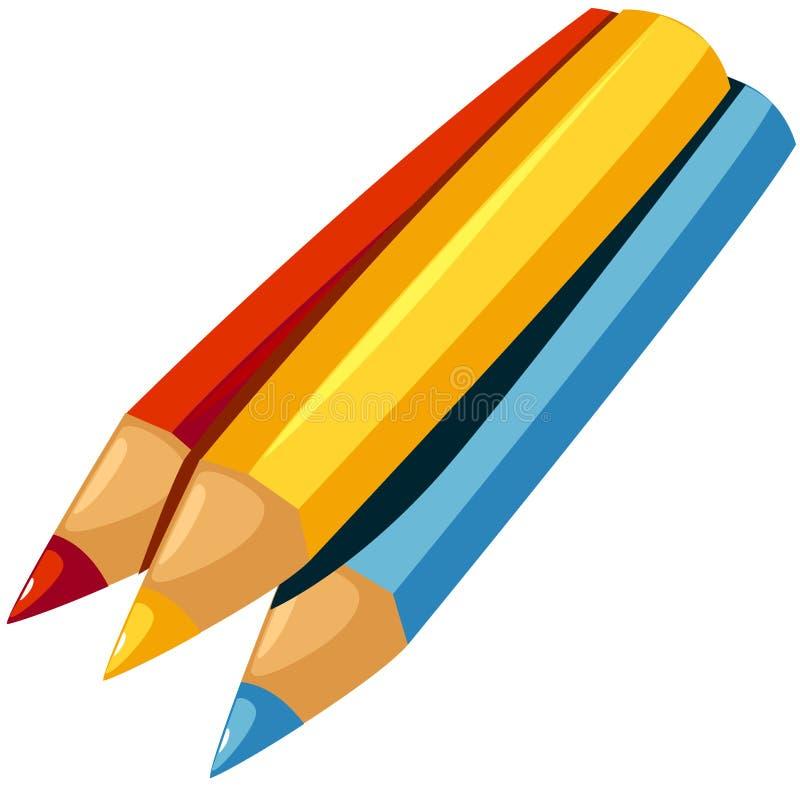Color pencil royalty free illustration