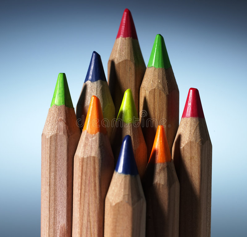 Color pencil stock photo