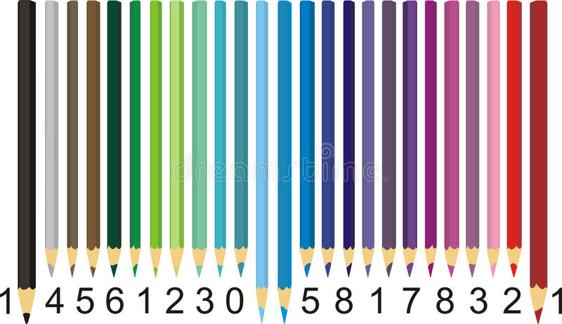 Download Color pencil barcode stock vector. Illustration of data - 20027444