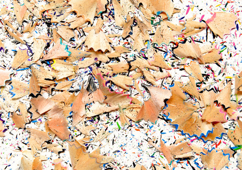 Color pencil shaves background colorful.  royalty free stock image