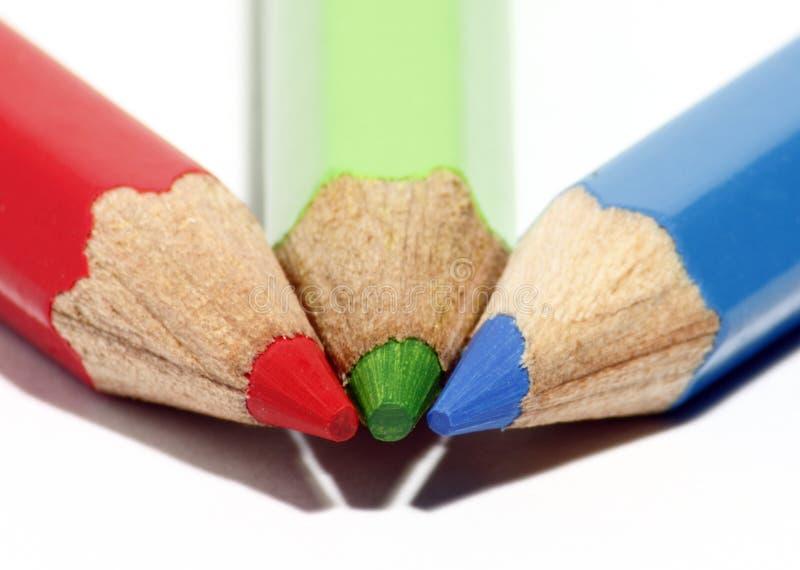 Color pencil tip stock photo
