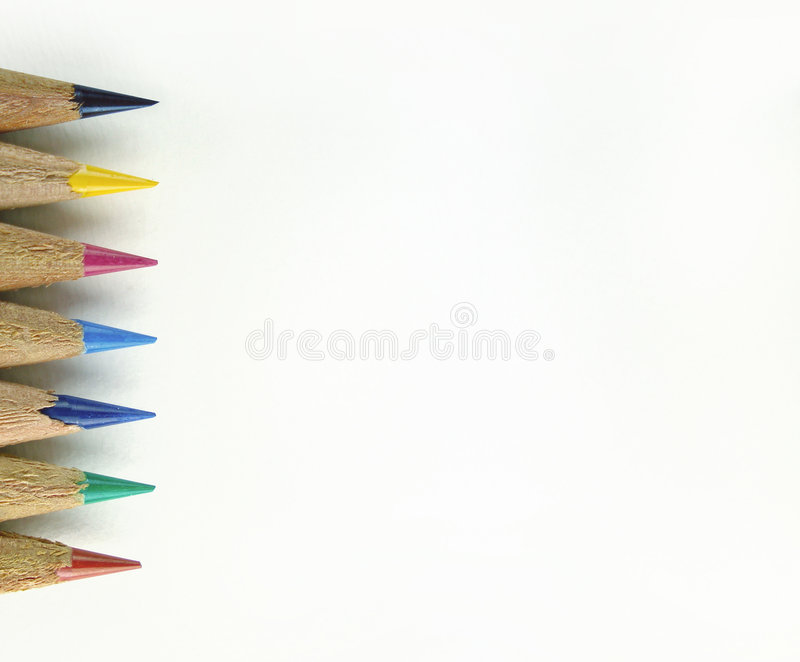Color Pencil Tips Royalty Free Stock Photos