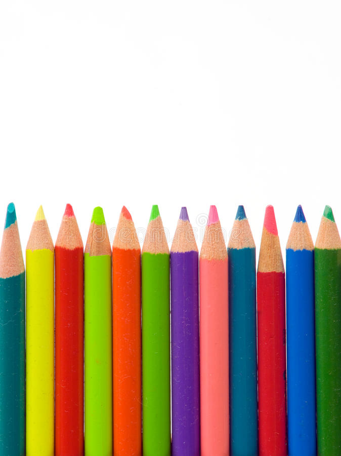 Free Color Pencils Royalty Free Stock Photography - 12003427