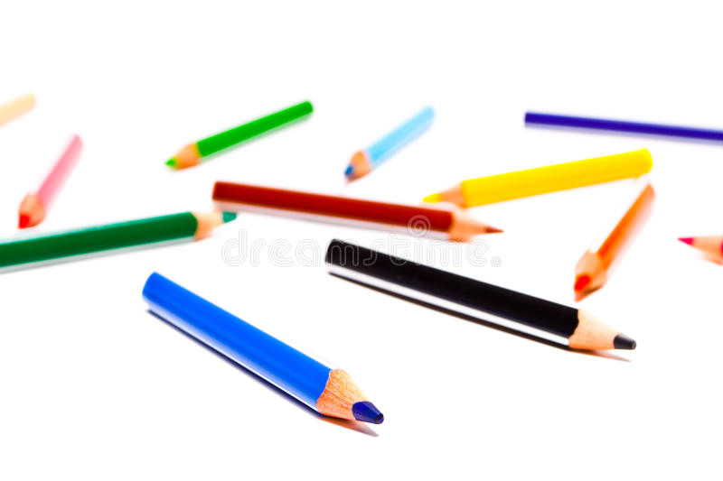 Download Color pencils stock image. Image of office, handful, white - 13162005