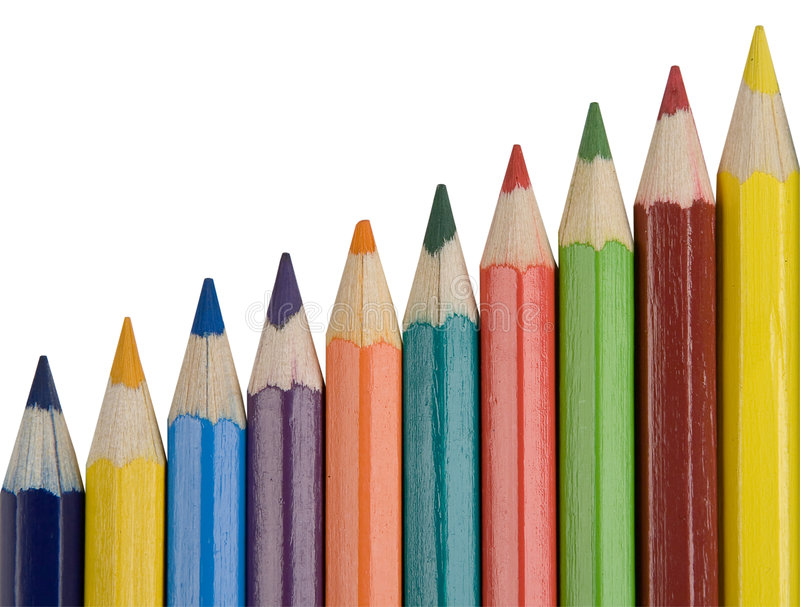 Download Color pencils stock image. Image of office, children, colourful - 1476225