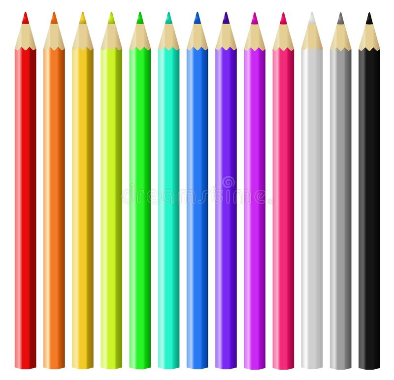 Download Color pencils stock vector. Image of creativity, educate - 24759641