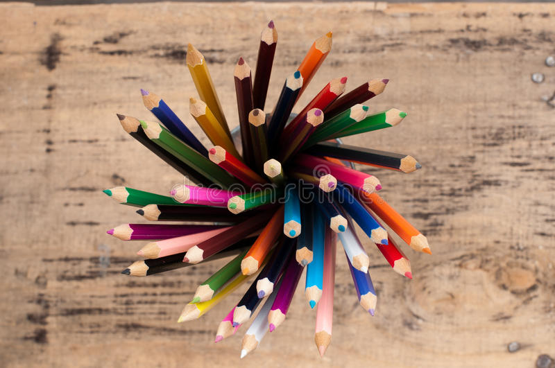 Download Color pencils stock image. Image of copy, high, drawing - 26697937