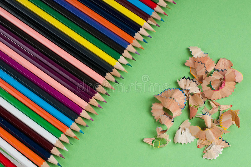 Download Color pencils stock photo. Image of gray, image, horizontal - 26698000