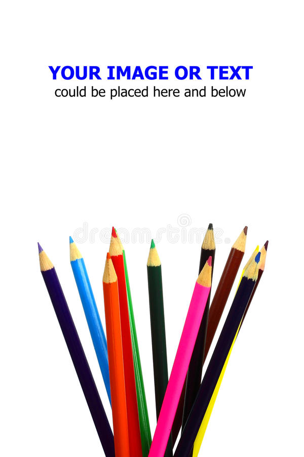 Download Color pencils stock photo. Image of isolated, creative - 27215618
