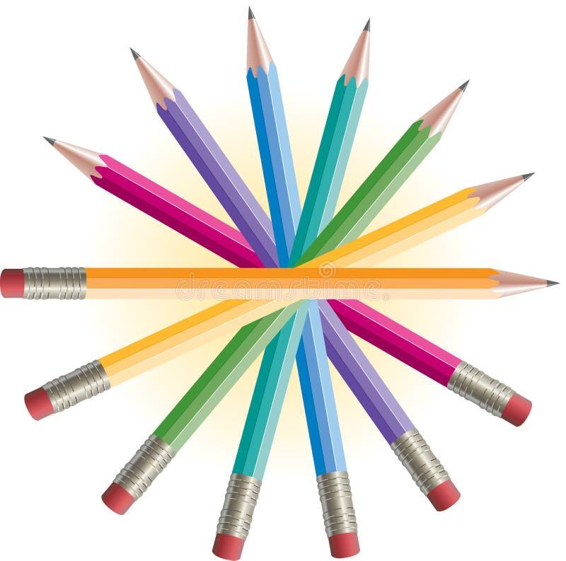 Download Color Pencils stock illustration. Image of equipment - 27264623