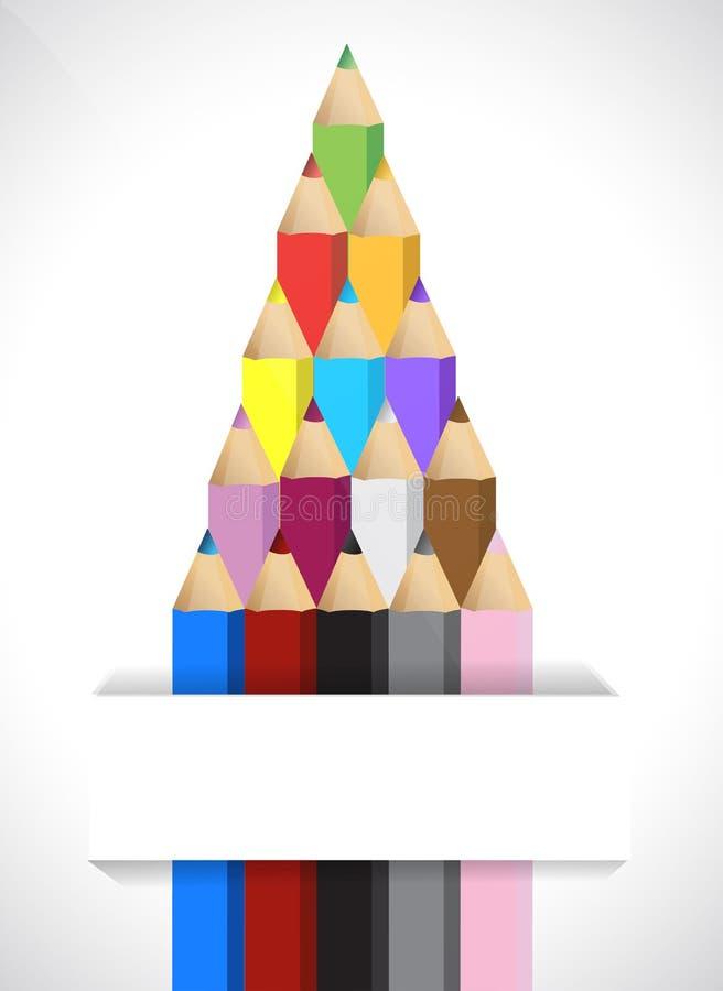 Download Color pencils stock illustration. Illustration of colored - 28982495