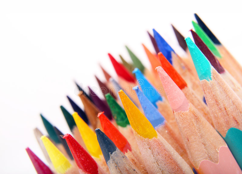 Download Color pencils stock image. Image of draw, colorful, closeup - 7152419